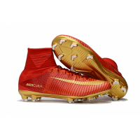 NK Mercurial Superfly CR7 Vitórias FG boots-Red&Golden picture and image