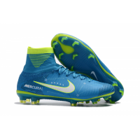 NK Mercurial Superfly V FG Boots-Sky Blue picture and image