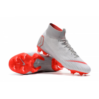 NK Mercurial Superfly VI Elite FG Soccer Cleats-Gray picture and image
