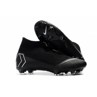 NK Mercurial Superfly VI Elite FG Soccer Cleats-Black picture and image