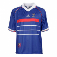 1998 France Retro Home Blue Soccer Jersey Shirt picture and image