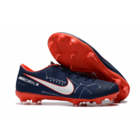 NK Mercurial Vapor XI NJR FG Soccer Cleats-Navy&Orange picture and image