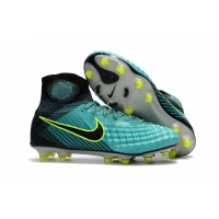 NK Magista Obra II FG Soccer Cleats-Green&Black picture and image