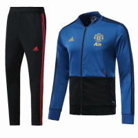 18-19 Mancehster United Blue&Black Training Kit(Jacket+Trouser) picture and image