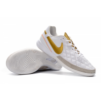 NK TimpoX Finale IC Soccer Cleats-White&Golden picture and image