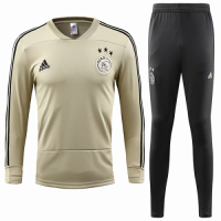 18-19 Ajax Yellow&Navy Training Kit(Sweater Top Shirt+Trousers) picture and image