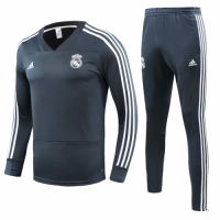 18-19 Real Madrid Green Training Kit( Sweat Top Shirt+Trouser) picture and image