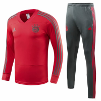 18-19 Bayren Munich Red&Gray Training Kit( Sweat Top Shirt+Trouser) picture and image