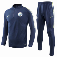 18-19 Manchester City Navy Training Kit(Zipper Sweat Top Shirt+Trousers) picture and image