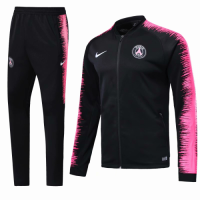 18-19 PSG Black&Pink V-Neck Training Kit(Jacket+Trousers) picture and image