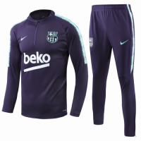 18-19 Barcelona Purple Training Kit(Zipper Sweat Top Shirt+Trousers) picture and image