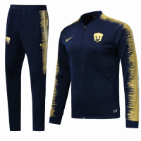 18-19 UNAM Pumas Navy&Yellow V-Neck Training Kit(Jacket+Trousers) picture and image