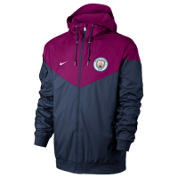 18-19 Manchester City Red&Blue Hoody Jacket picture and image