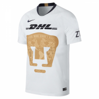 18-19 UNAM Pumas Home White Soccer Jersey Shirt picture and image