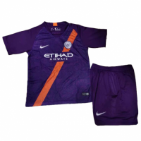 18-19 Manchester City Third Away Children's Jersey Kit(Shirt+Short) picture and image