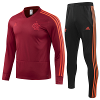18-19 CR Flamengo Red Sweat Shirt Kit(Top+Trouser) picture and image