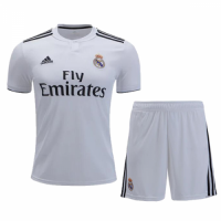 18-19 Real Madrid Home White Player Version Soccer Jersey Kit(Shirt+Short) picture and image