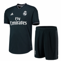 18-19 Real Madrid Away Deep Green Soccer Jersey(Shirt+Short) picture and image