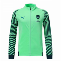18-19 Arsenal Green High Neck Collar Training Jacket picture and image
