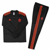 Kids 18-19 CR Flamengo Black Sweat Shirt Kit(Top+Trouser) picture and image
