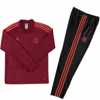 Kids 18-19 CR Flamengo Red Sweat Shirt Kit(Top+Trouser) picture and image