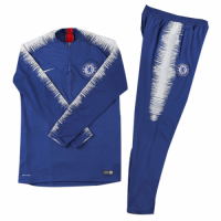 Kids 18-19 Chelsea Zipper Player Version Sweat Shirt Kit(Top+Trouser) picture and image