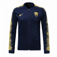 18-19 UNAM Pumas Navy&Yellow V-Neck Training Jacket picture and image