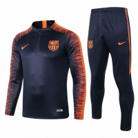 18-19 Barcelona Navy&Orange  Training Kit(Jacket+Trouser) picture and image