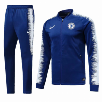 18-19 Chelsea Blue&White V-Neck Training Kit(Top+Trousers) picture and image