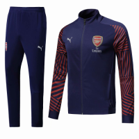 18-19 Arsenal Navy&Red High Neck Collar Training Kit(Jacket+Trousers) picture and image