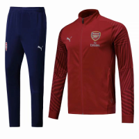 18-19 Arsenal Red&Navy High Neck Collar Training Kit(Jacket+Trousers) picture and image