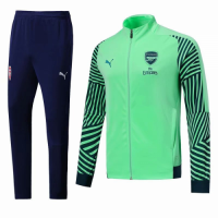 18-19 Arsenal Green&Navy High Neck Collar Training Kit(Jacket+Trousers) picture and image