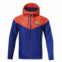 18-19 Barcelona Red&Blue Woven Windrunner picture and image