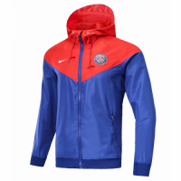18-19 PSG Red&Blue Woven Windrunner picture and image