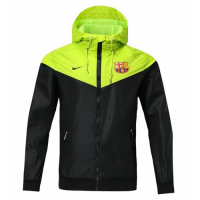 18-19 Barcelona Green&Black Woven Windrunner picture and image