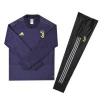 Kids 18-19 Juventus Navy Sweat Shirt Kit(Top+Trouser) picture and image