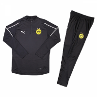 Kids 18-19 Borussia Dortmund Black Sweat Shirt Kit(Top+Trouser) picture and image