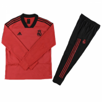 Kids 18-19 Real Madrid Red Sweat Shirt Kit(Top+Trouser) picture and image