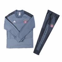 Kids 18-19 Bayern Munich Gray Sweat Shirt Kit(Top+Trouser) picture and image