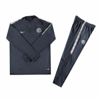 Kids 18-19 Inter Milan Gray Sweat Shirt Kit(Top+Trouser) picture and image