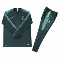 Kids 18-19 Tottenham Hotspur Dark Green Sweat Shirt Kit(Top+Trouser) picture and image