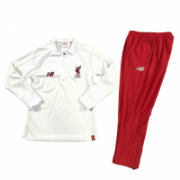 Kids 18-19 Liverpool White Sweat Shirt Kit(Top+Trouser) picture and image