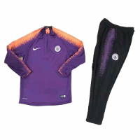 Kids 18-19 Manchester City Purple Sweat Shirt Kit(Top+Trouser) picture and image