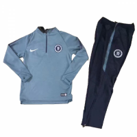Kids 18-19 Chelsea Gray Sweat Shirt Kit(Top+Trouser) picture and image