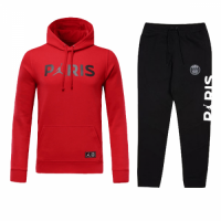 Kids 18-19 PSG JORDAN 3rd Away Red Hoody Sweat Shirt Kit(Top+Trouser) picture and image