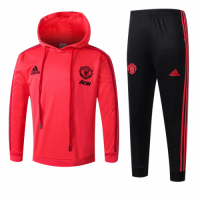 Kids 18-19 Manchester United Orange Hoody Sweat Shirt Kit(Top+Trouser) picture and image