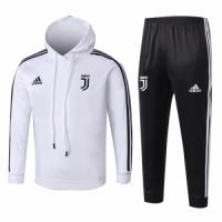 Kids 18-19 Juventus White Hoody Sweat Shirt Kit(Top+Trouser) picture and image