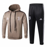 Kids 18-19 Juventus Yellow Hoody Sweat Shirt Kit(Top+Trouser) picture and image