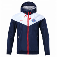 18-19 PSG White&Navy Woven Windrunner picture and image