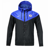 18-19 Chelsea Black&Blue Woven Windrunner picture and image